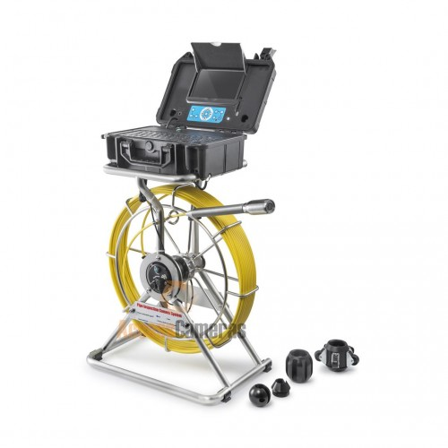 40m / 50m / 60m PRO-DRAIN 4 RECORDABLE Drain & Duct Inspection Camera with optional Built in SONDE
