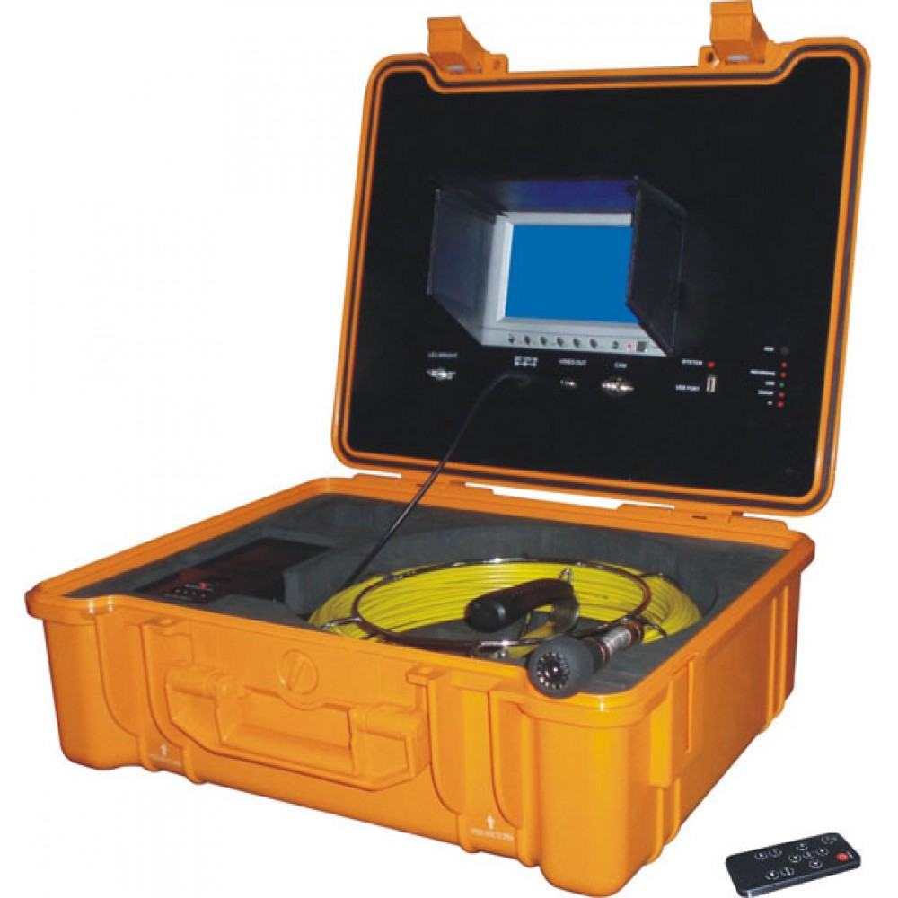 Commercial Lighting Hire: PRO-DRAIN Recordable Drain & Duct Inspection Camera With