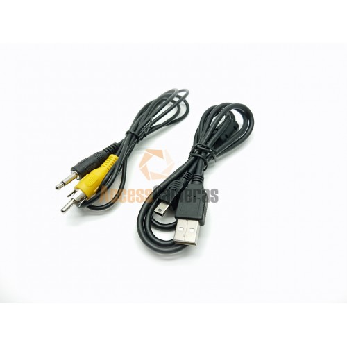 AV Cable & Mini USB Cable