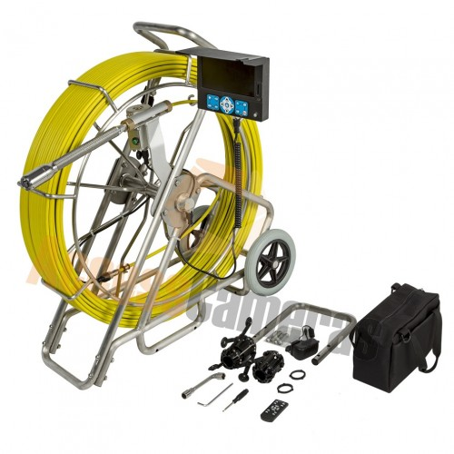60m ALL in ONE RECORDABLE Drain & Duct Inspection Camera with optional Built in SONDE