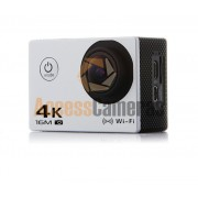 WHITE 4K WIFI Sports Camera WIDE ANGLE includes ALL MOUNTS & WATERPROOF CASE