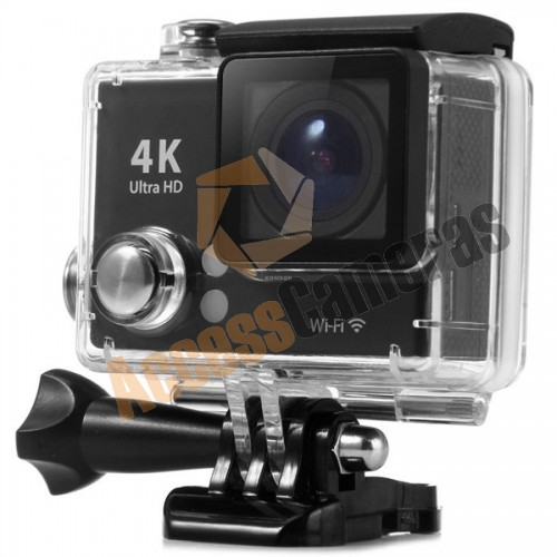 BLACK 4K WIFI Sports Camera WIDE ANGLE includes ALL MOUNTS & WATERPROOF CASE